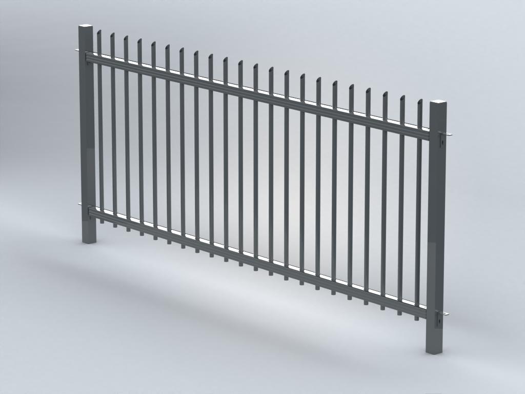 TR200 mitred railings