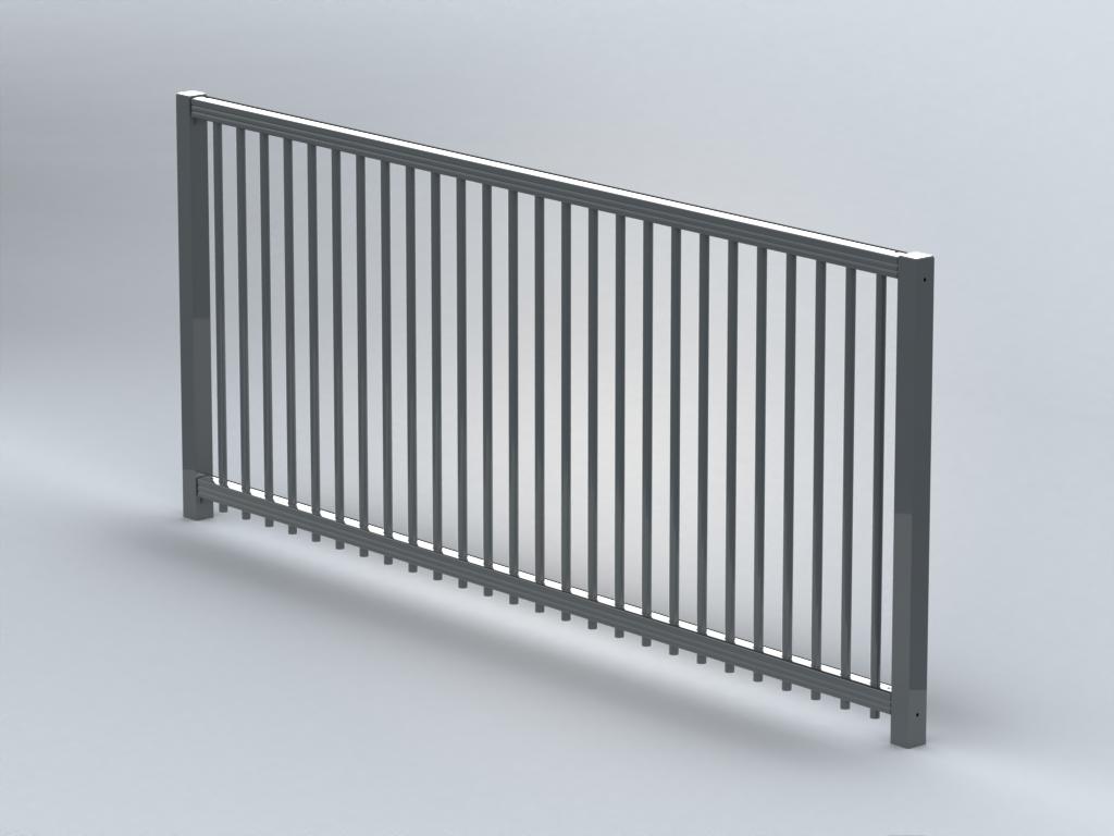 TR500 flat top railings