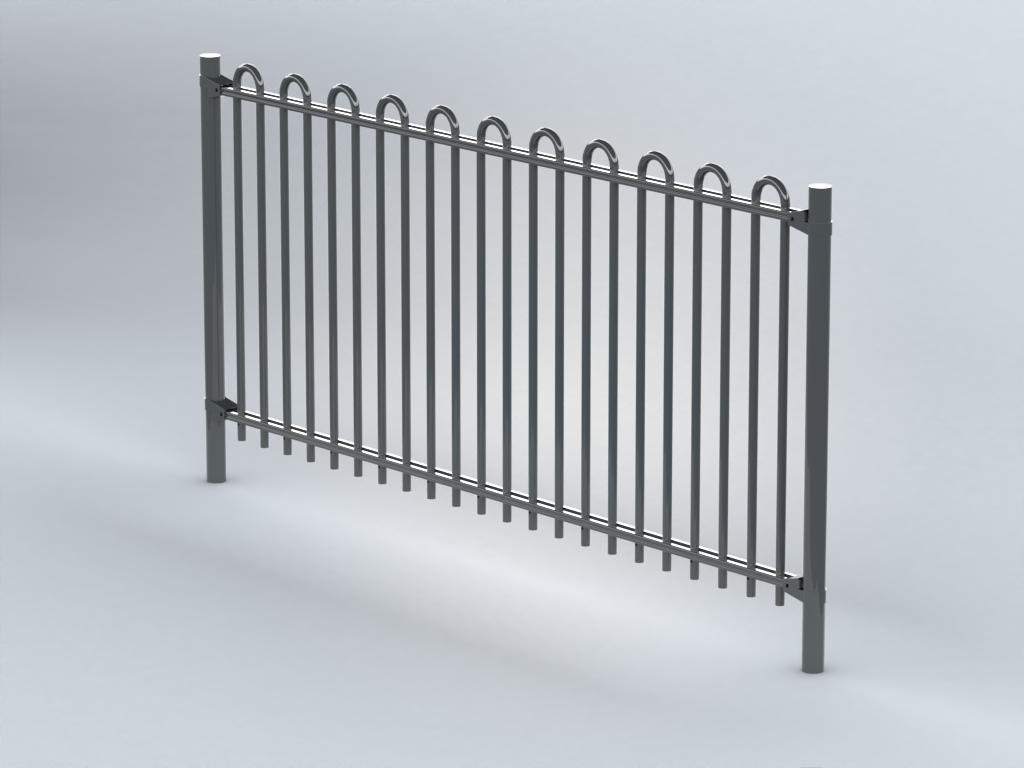 TR800 bow top railings (RoSPA)